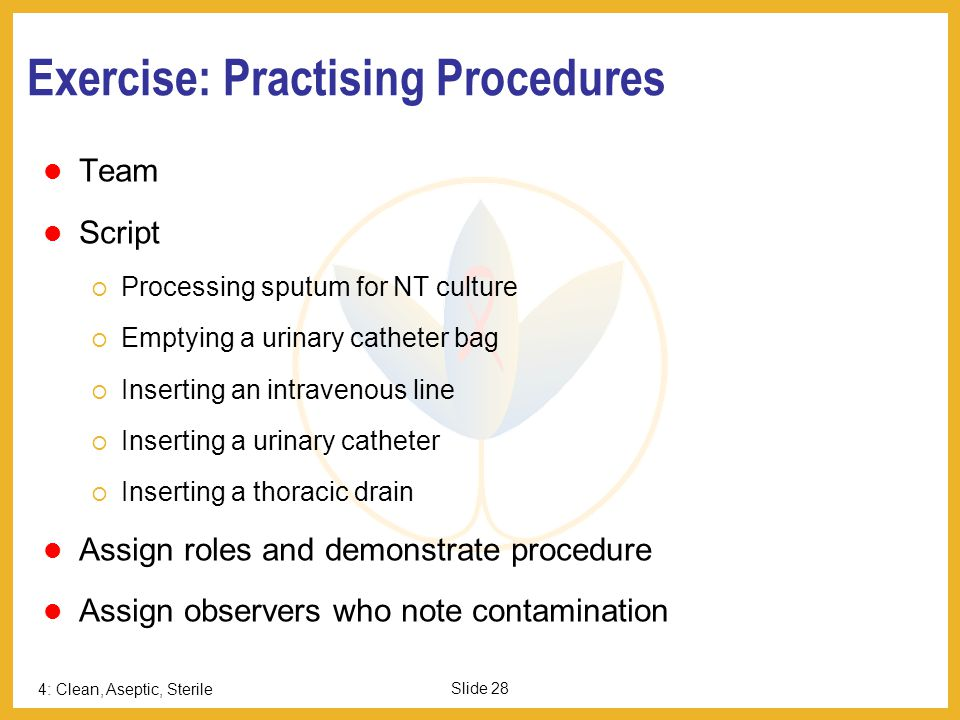Exercise: Practising Procedures
