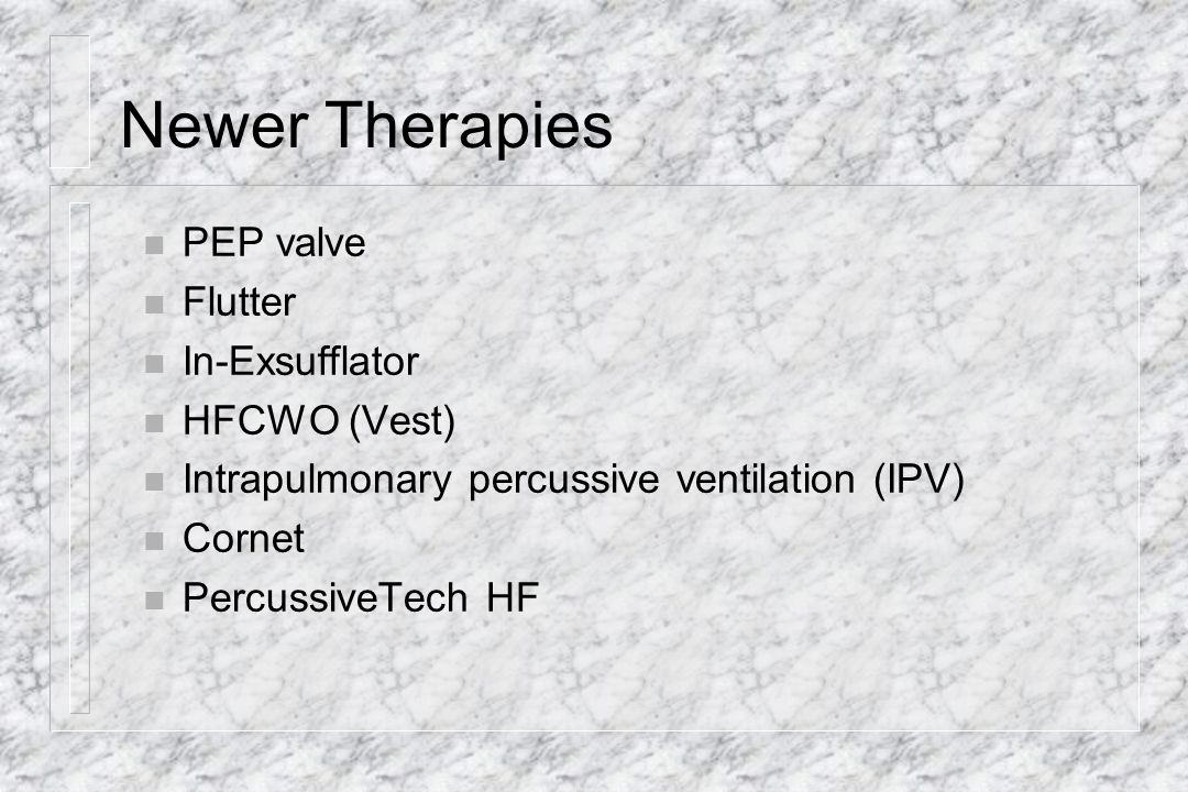 Newer Therapies PEP valve Flutter In-Exsufflator HFCWO (Vest)
