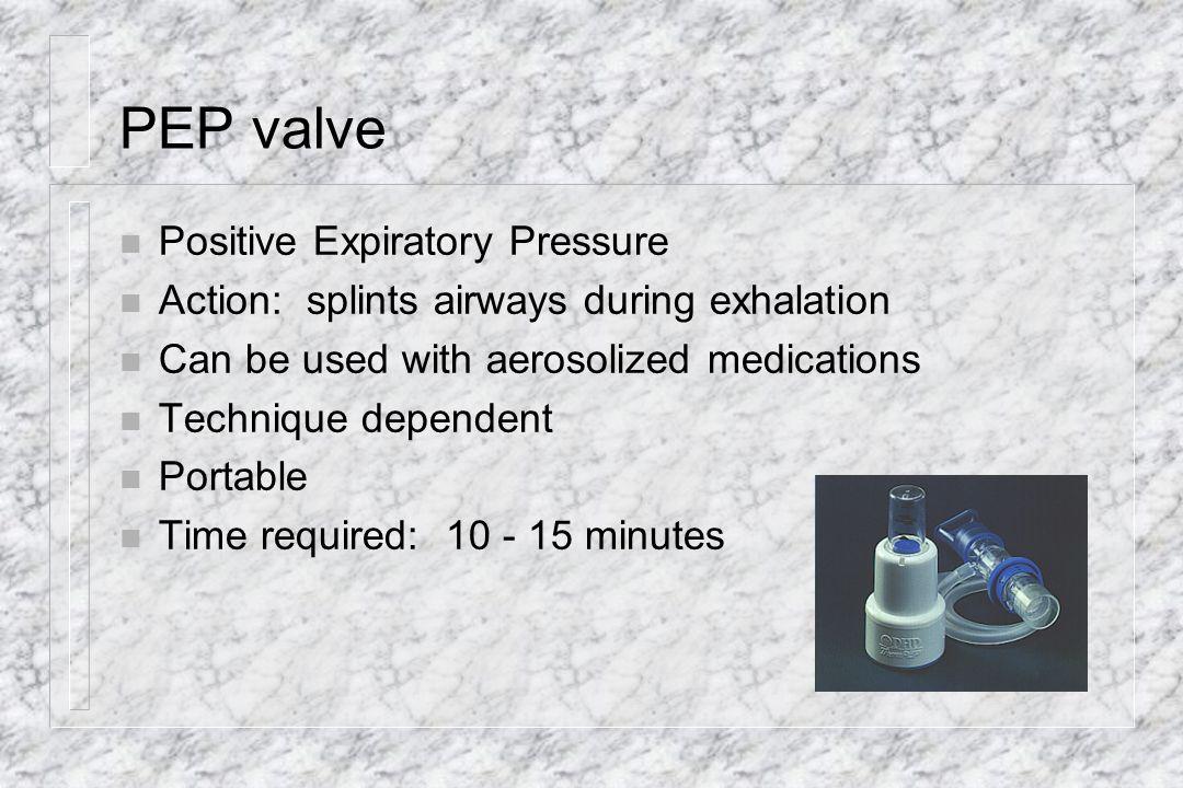 PEP valve Positive Expiratory Pressure