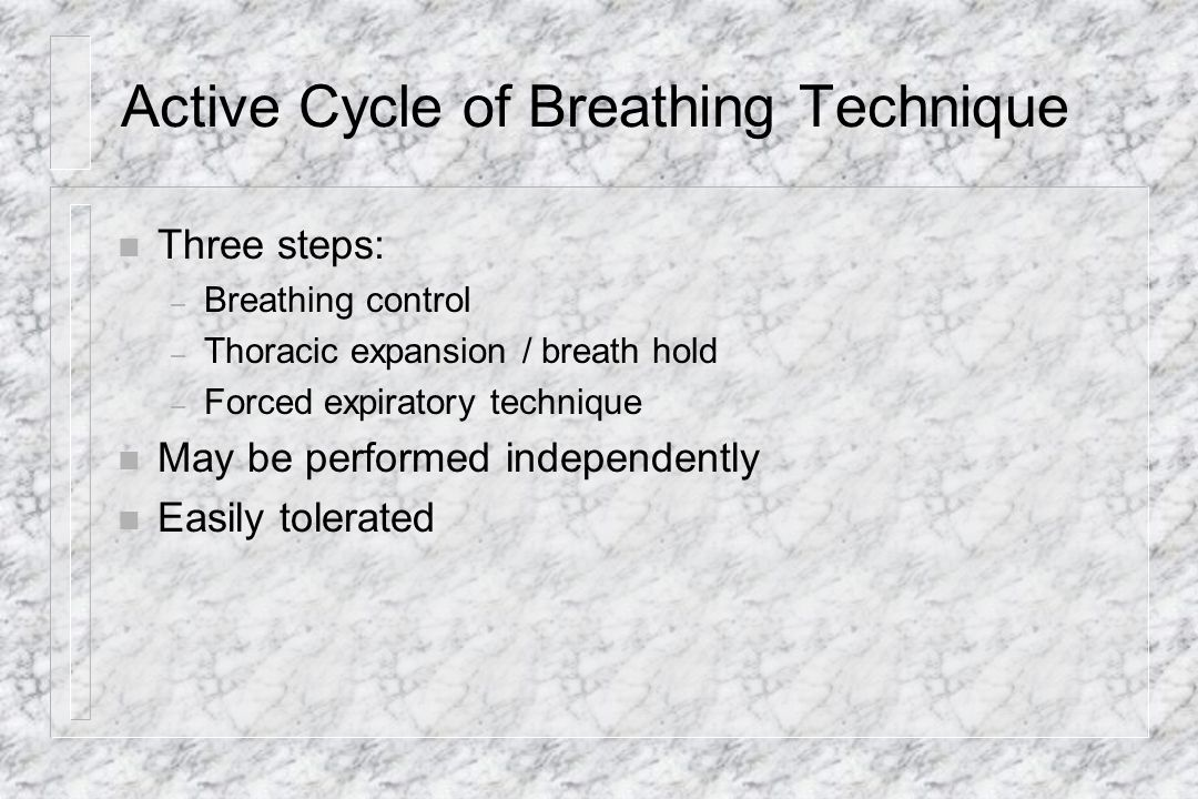 Active Cycle of Breathing Technique
