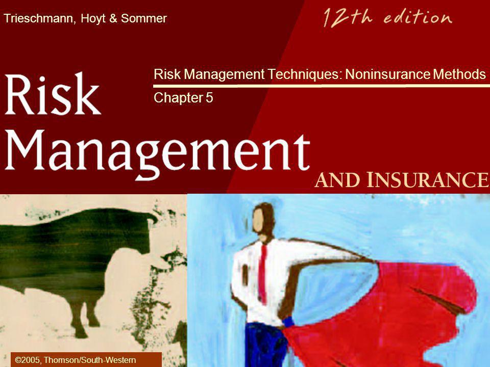Risk Management Techniques: Noninsurance Methods Chapter 5