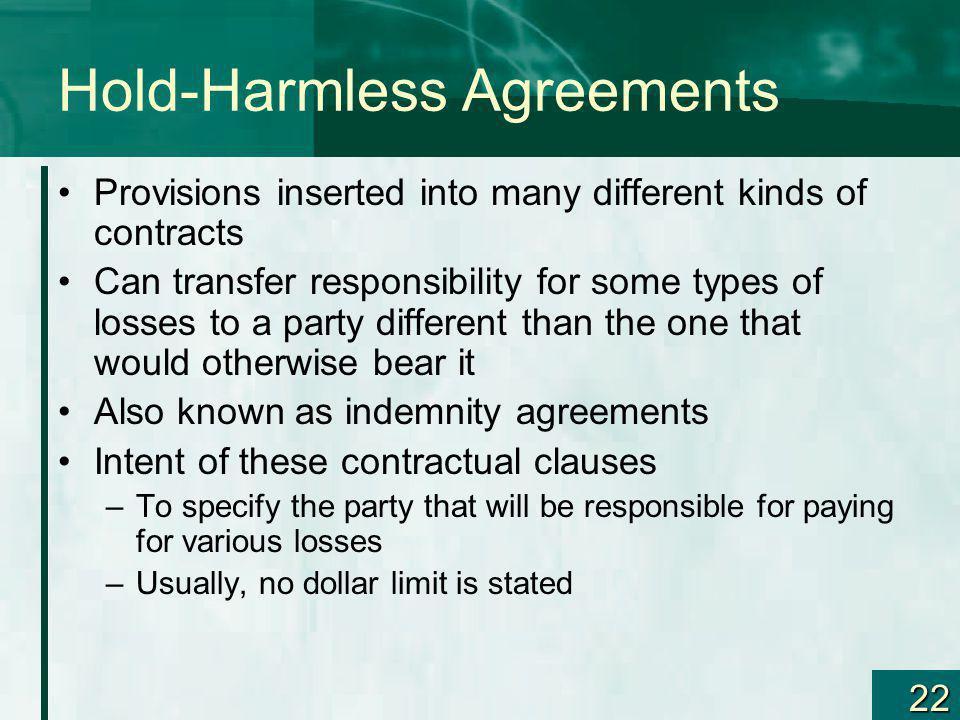 Hold-Harmless Agreements