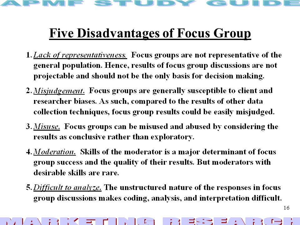 Five Disadvantages of Focus Group