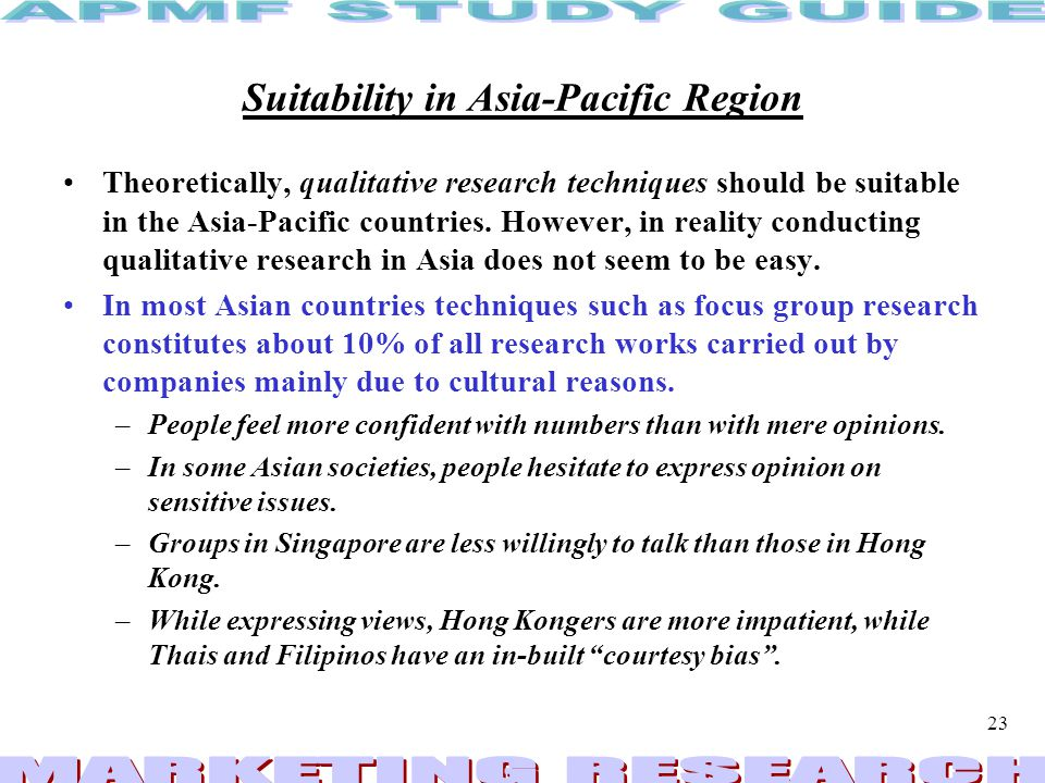 Suitability in Asia-Pacific Region