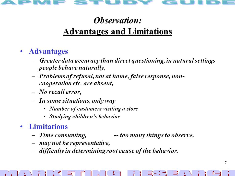 Observation: Advantages and Limitations