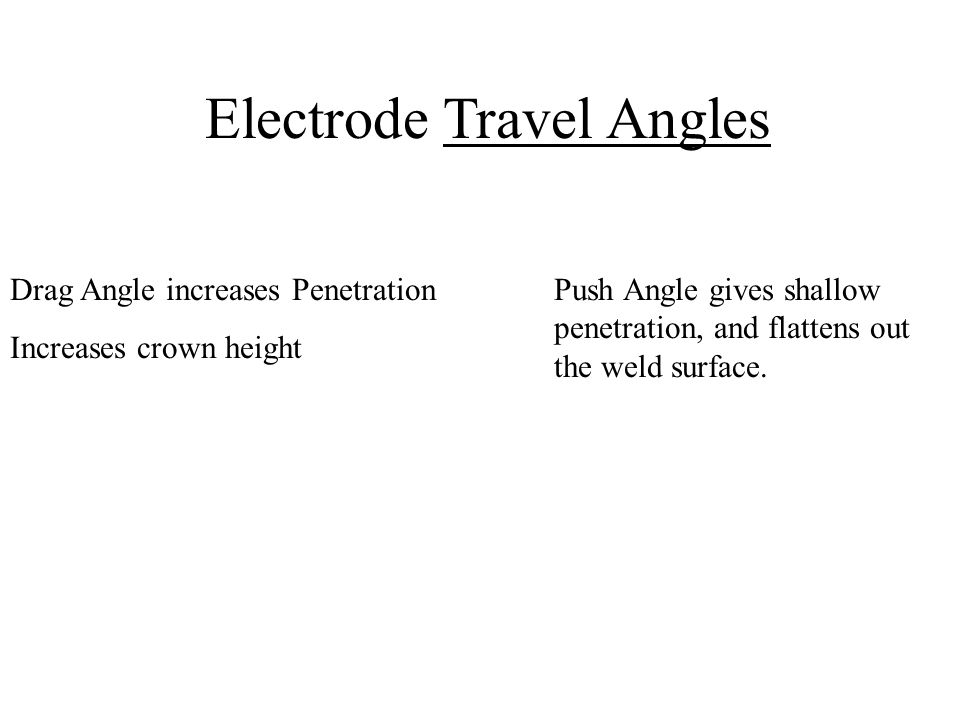Electrode Travel Angles