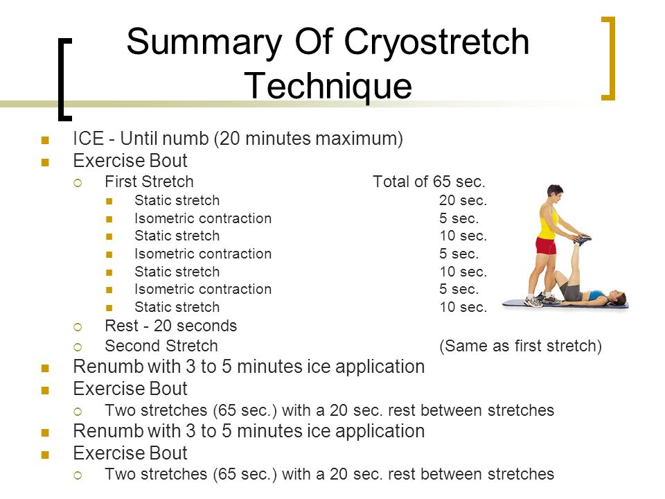 Summary Of Cryostretch Technique