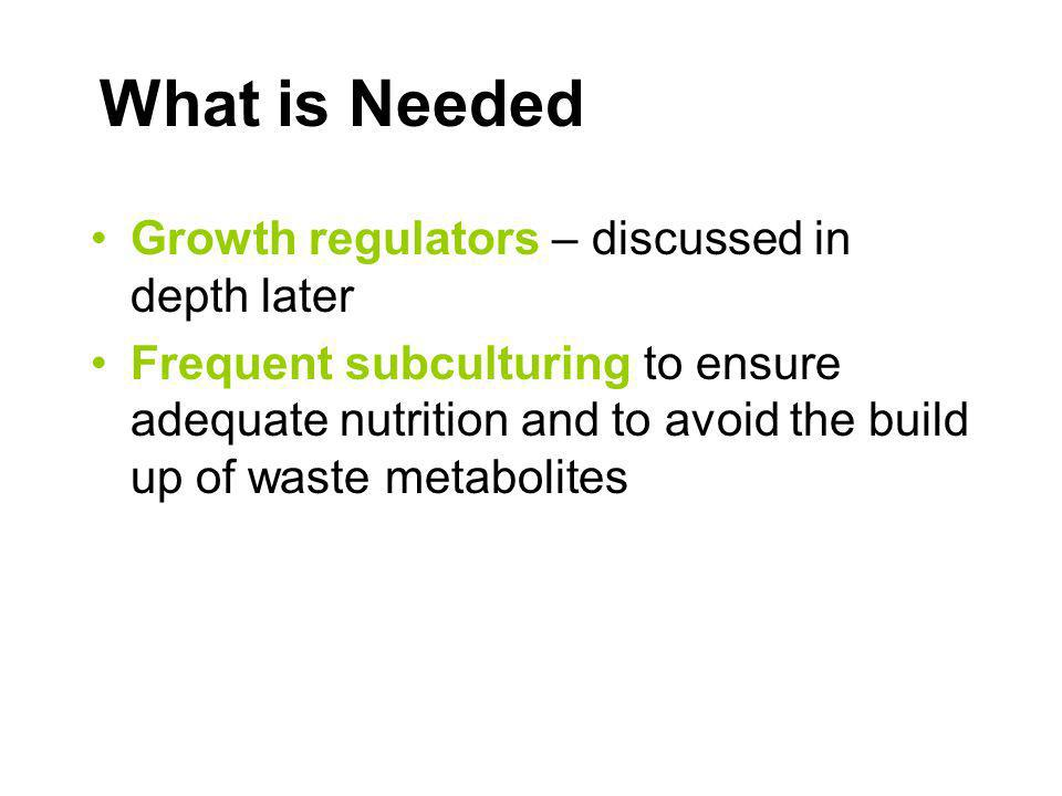 What is Needed Growth regulators – discussed in depth later