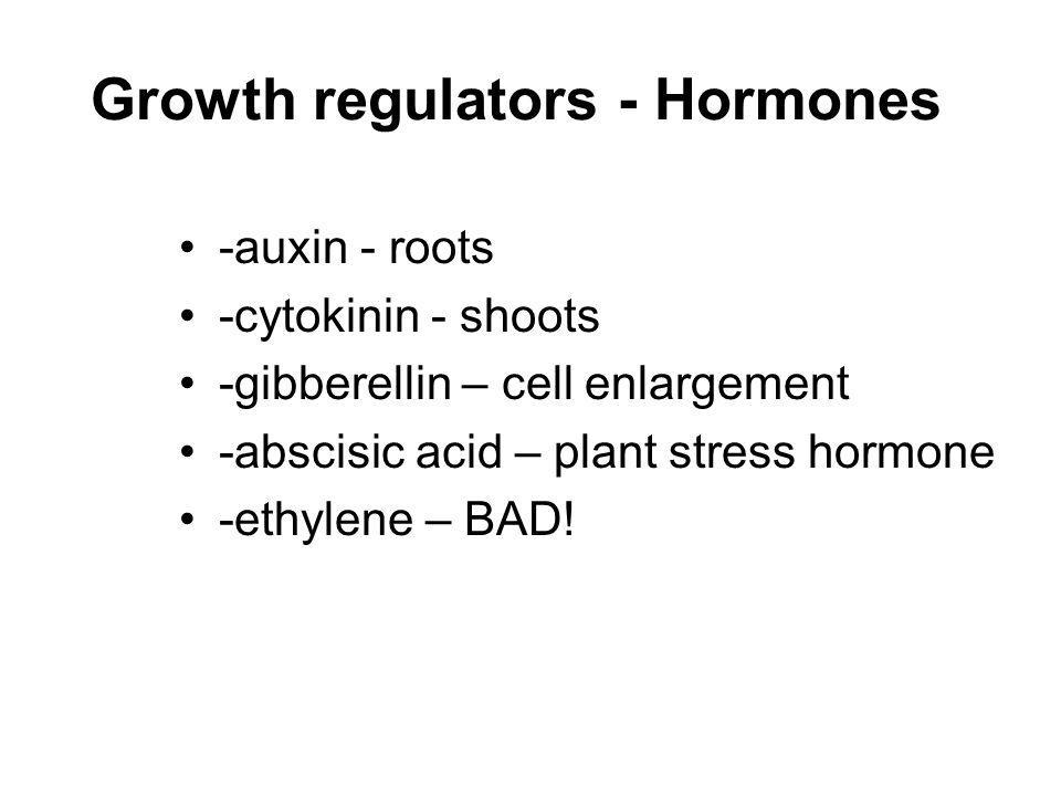 Growth regulators - Hormones
