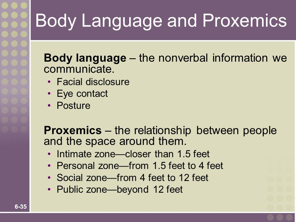 Body Language and Proxemics