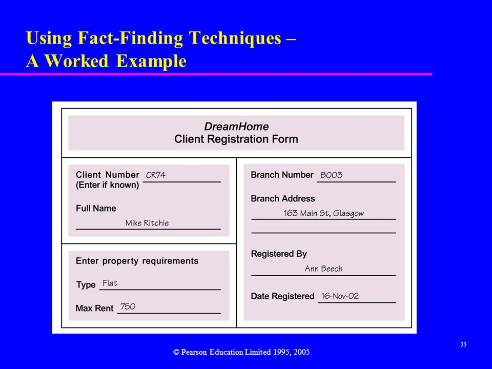 Using Fact-Finding Techniques – A Worked Example