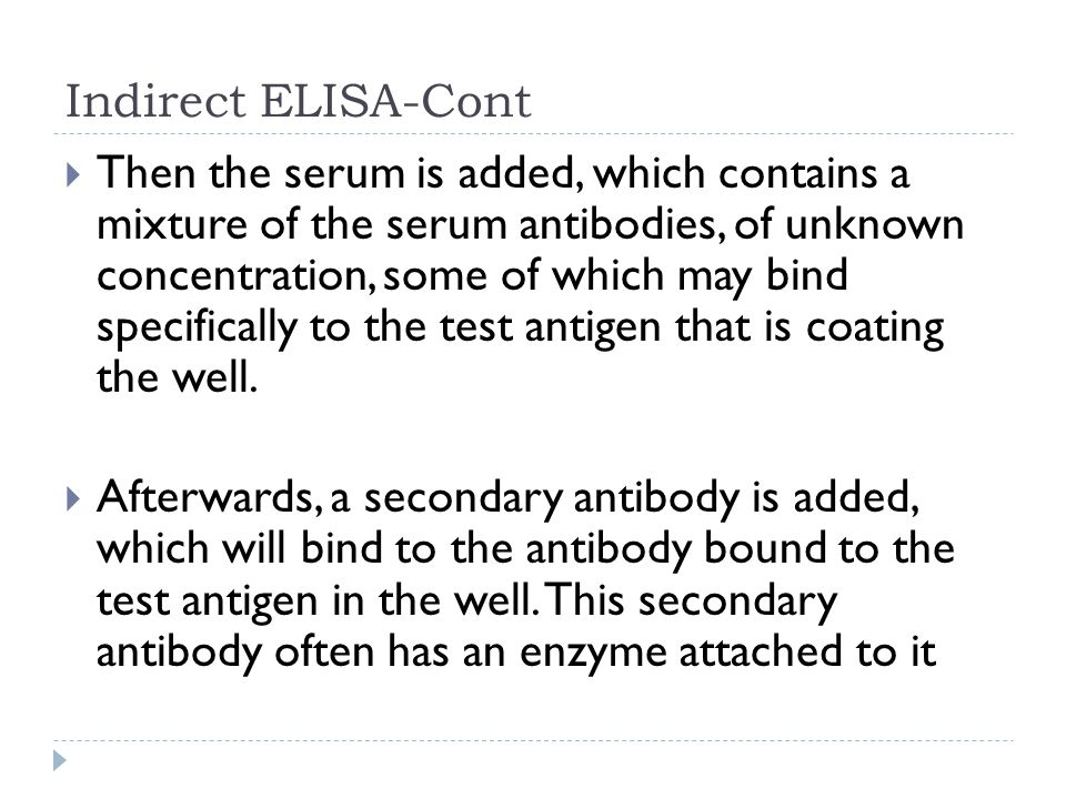 Indirect ELISA-Cont