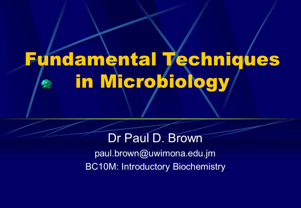 Fundamental Techniques in Microbiology