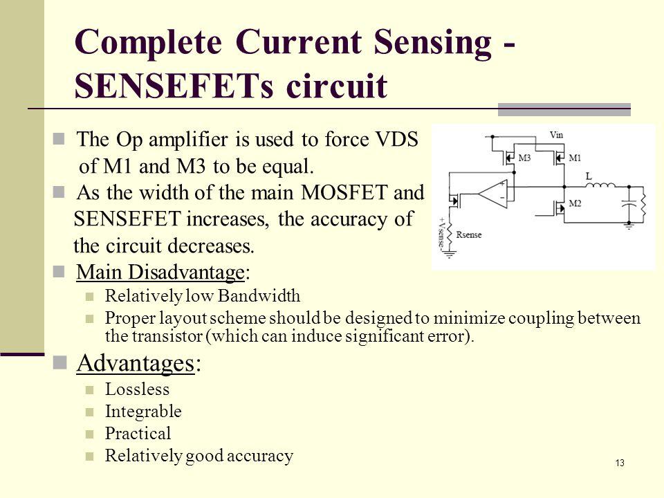 Complete Current Sensing - SENSEFETs circuit