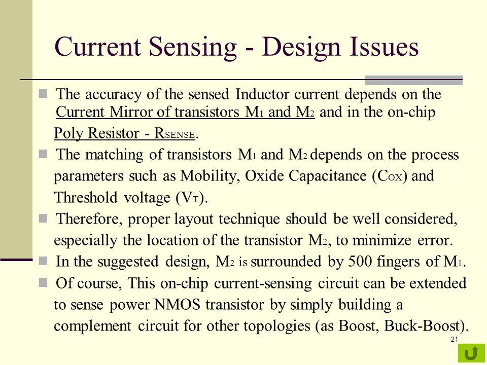 Current Sensing - Design Issues
