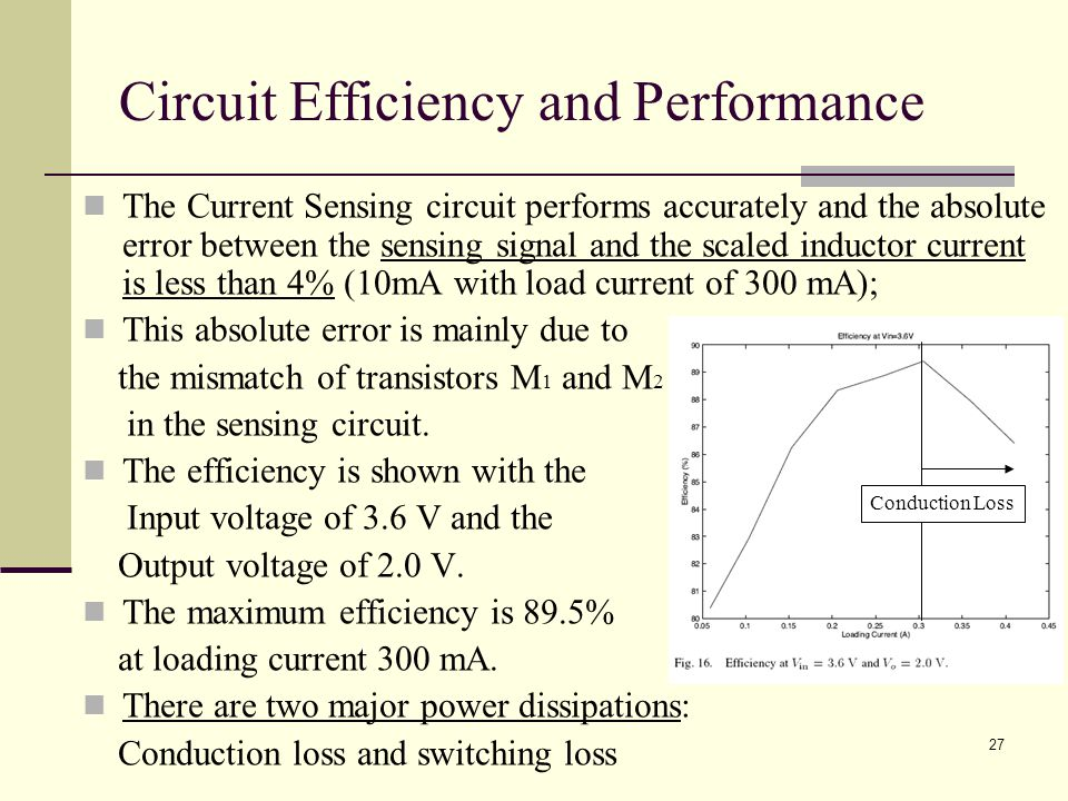 Circuit Efficiency and Performance