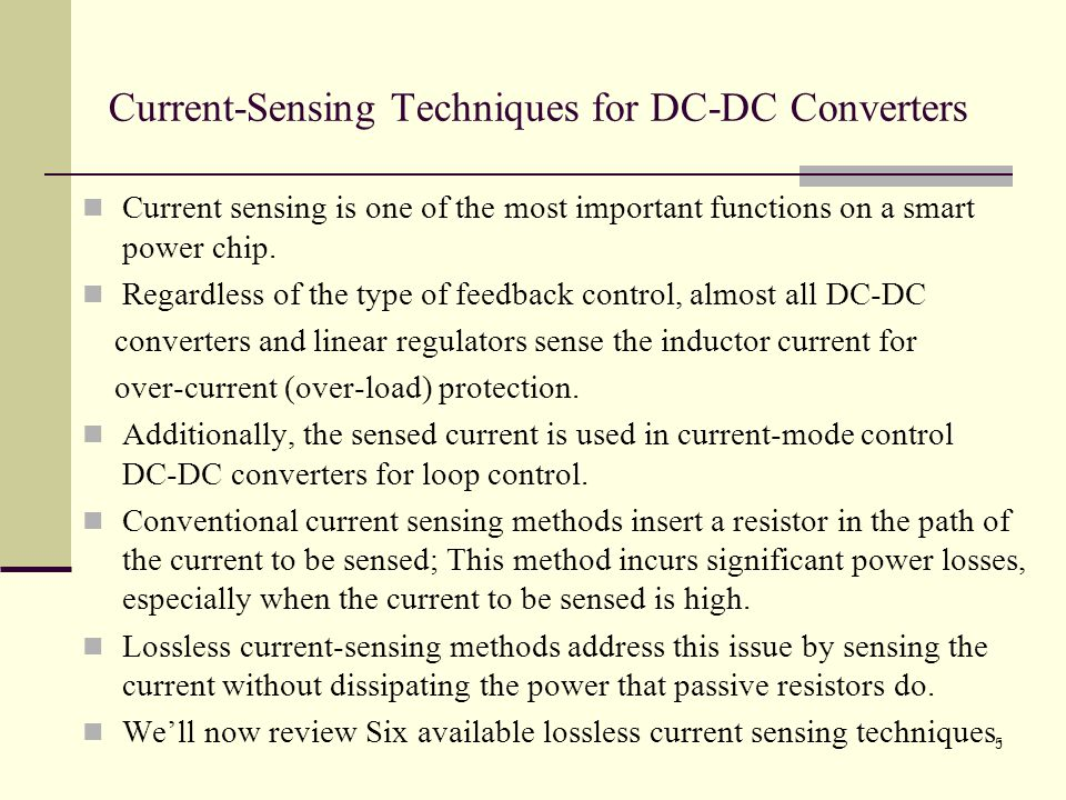 Current-Sensing Techniques for DC-DC Converters