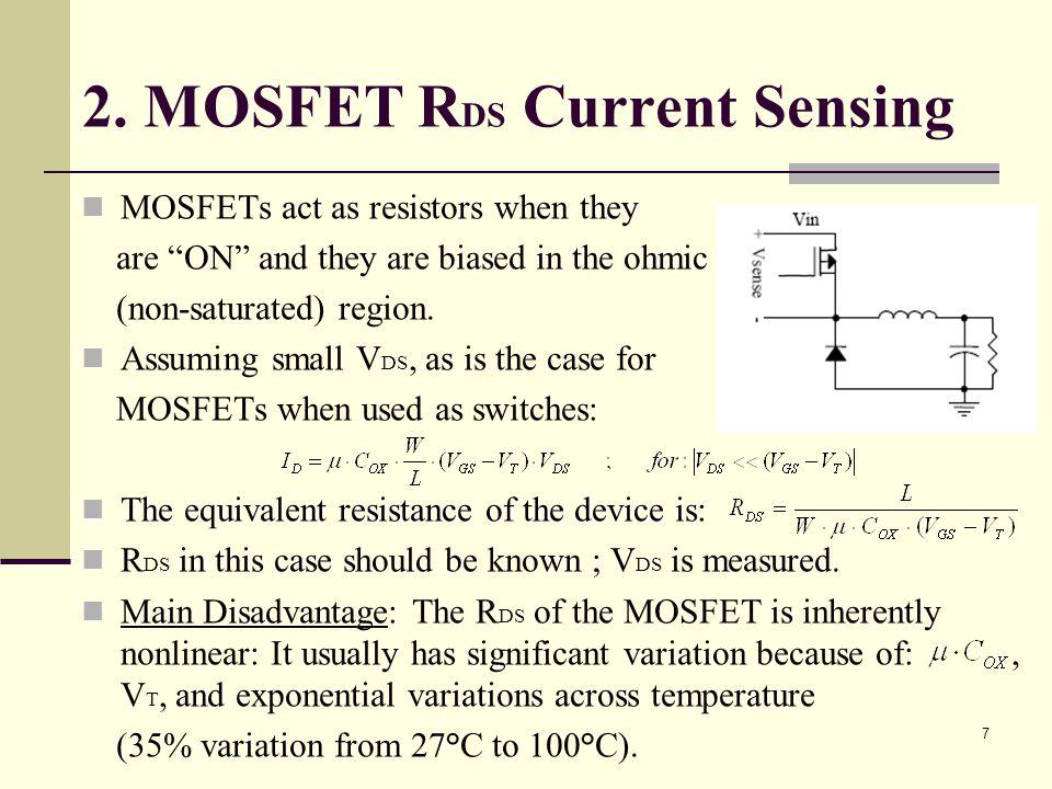 2. MOSFET RDS Current Sensing