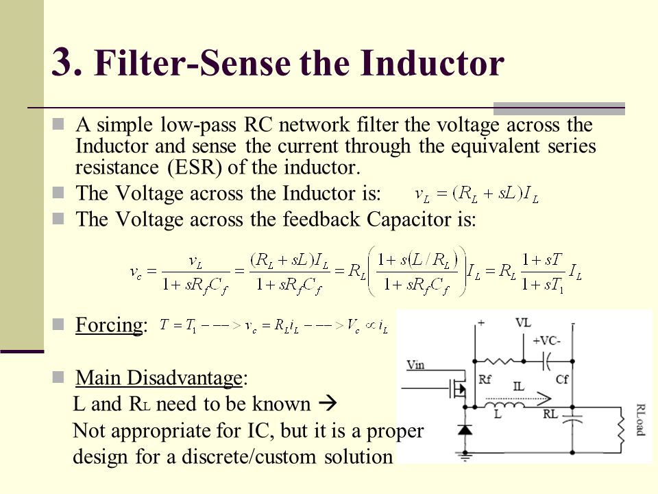 3. Filter-Sense the Inductor
