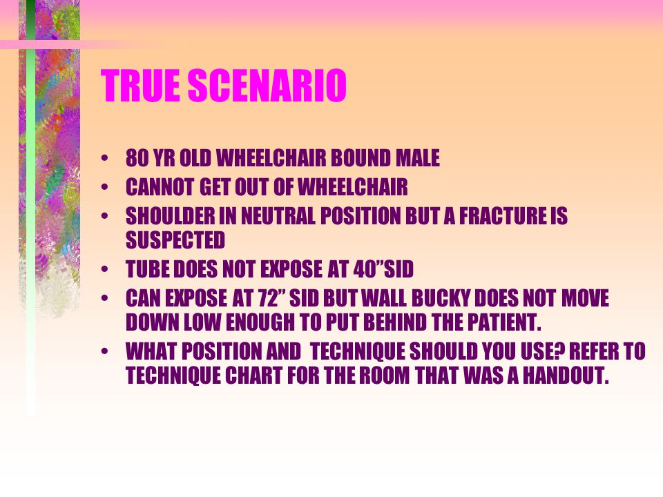 TRUE SCENARIO 80 YR OLD WHEELCHAIR BOUND MALE