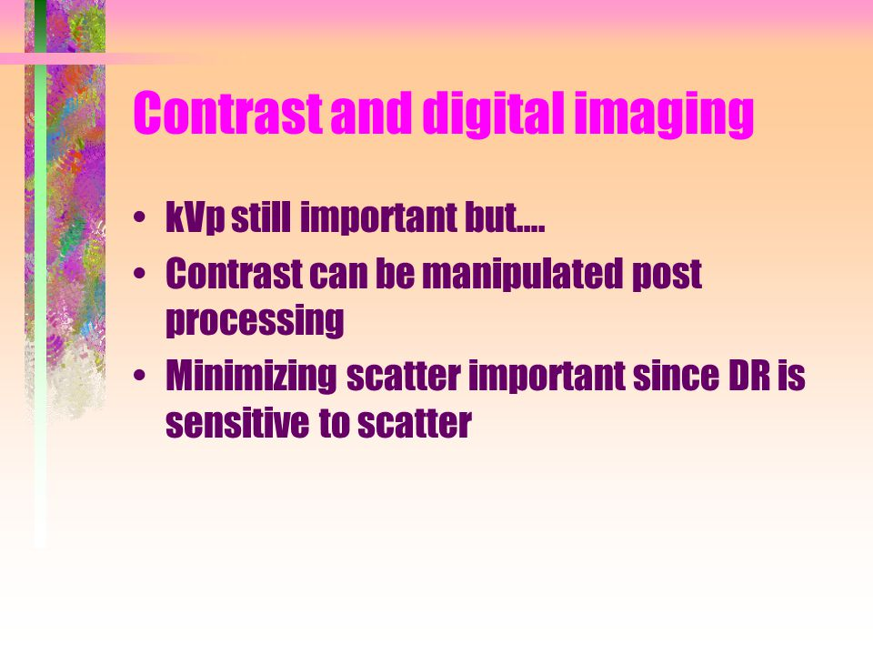 Contrast and digital imaging