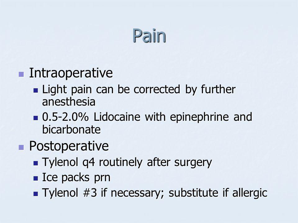 Pain Intraoperative Postoperative