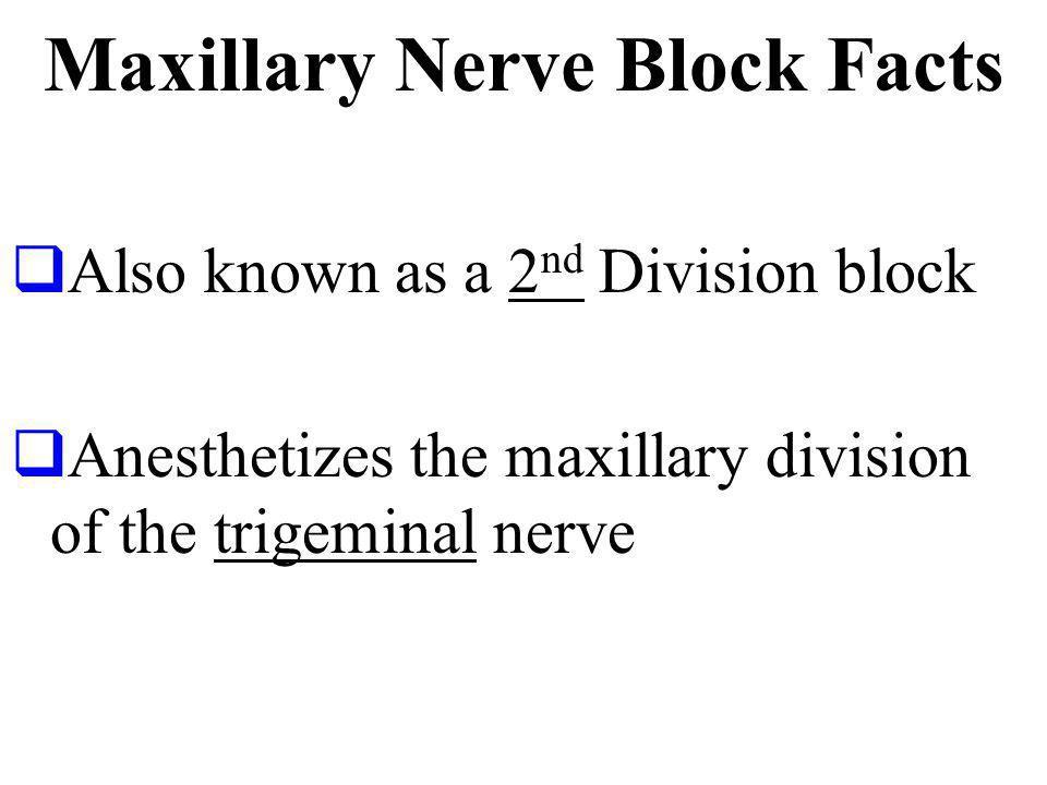 Maxillary Nerve Block Facts