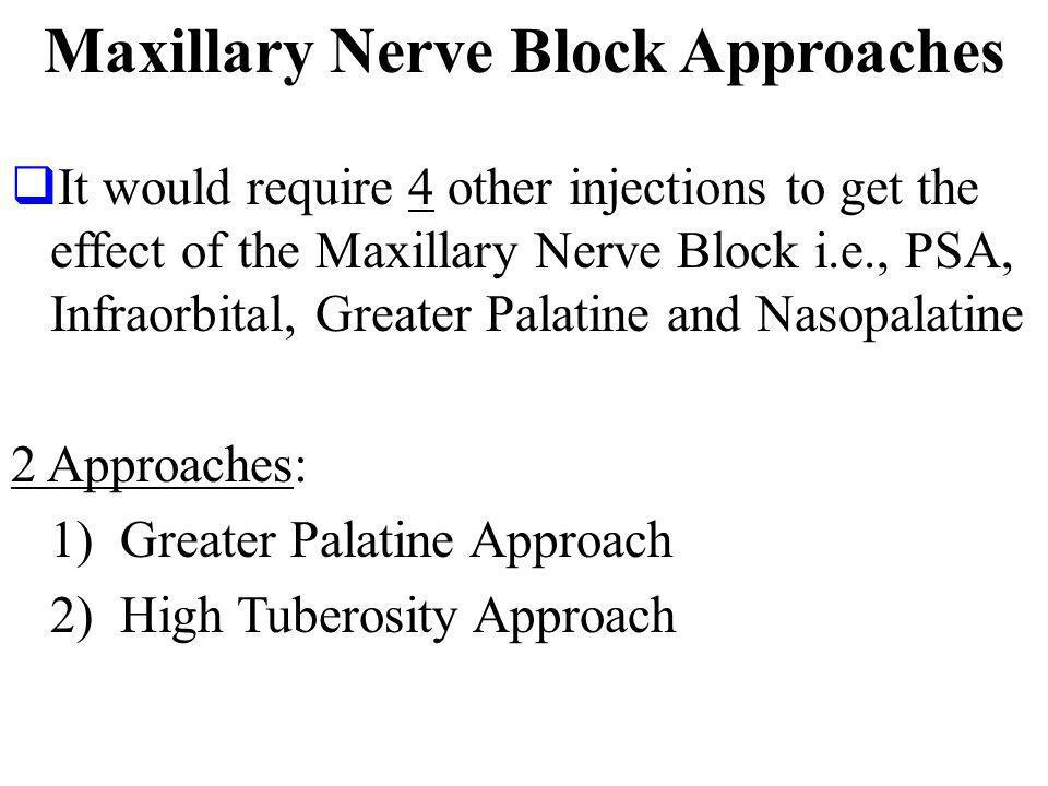 Maxillary Nerve Block Approaches