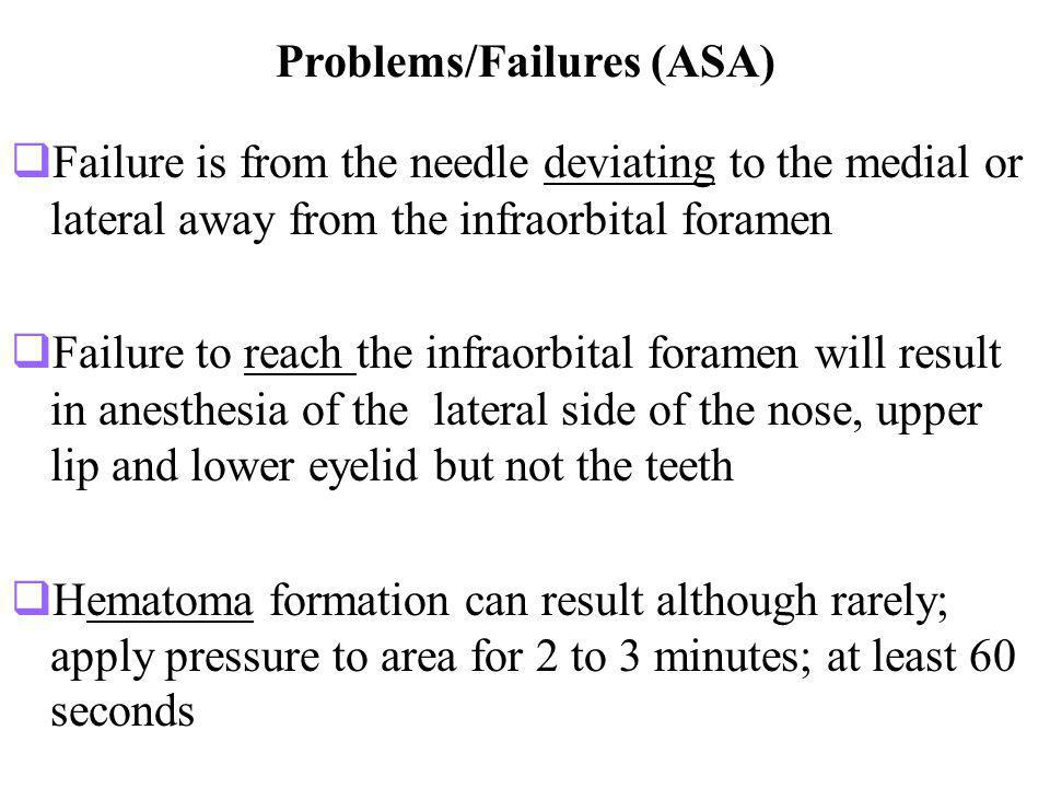 Problems/Failures (ASA)