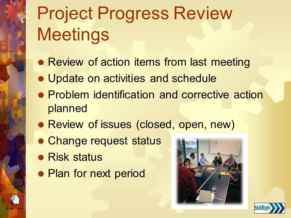 Project Progress Review Meetings