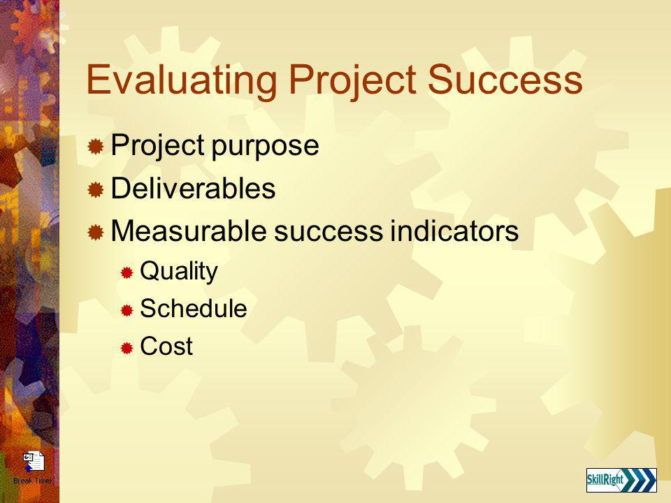 Evaluating Project Success
