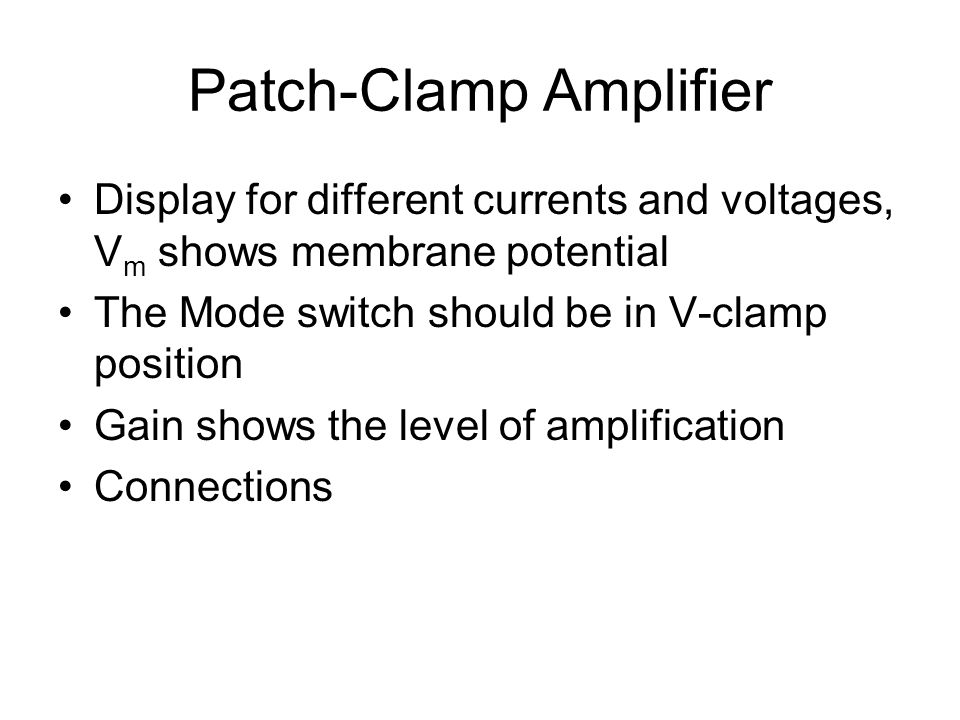 Patch-Clamp Amplifier