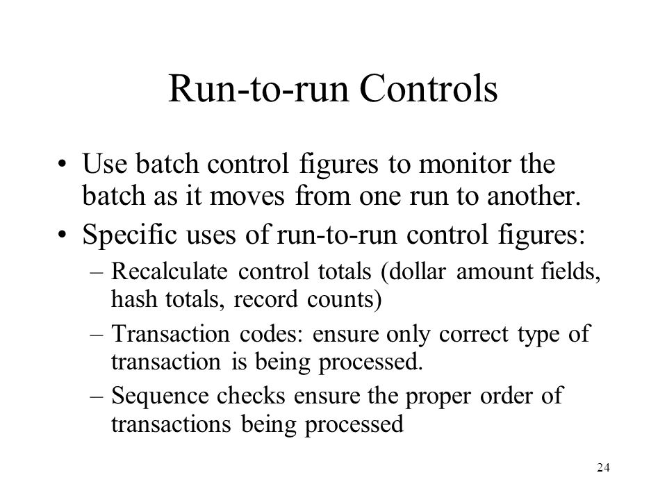 Run-to-run Controls Use batch control figures to monitor the batch as it moves from one run to another.