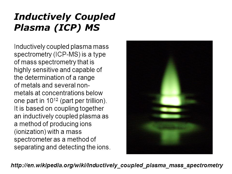 Inductively Coupled Plasma (ICP) MS