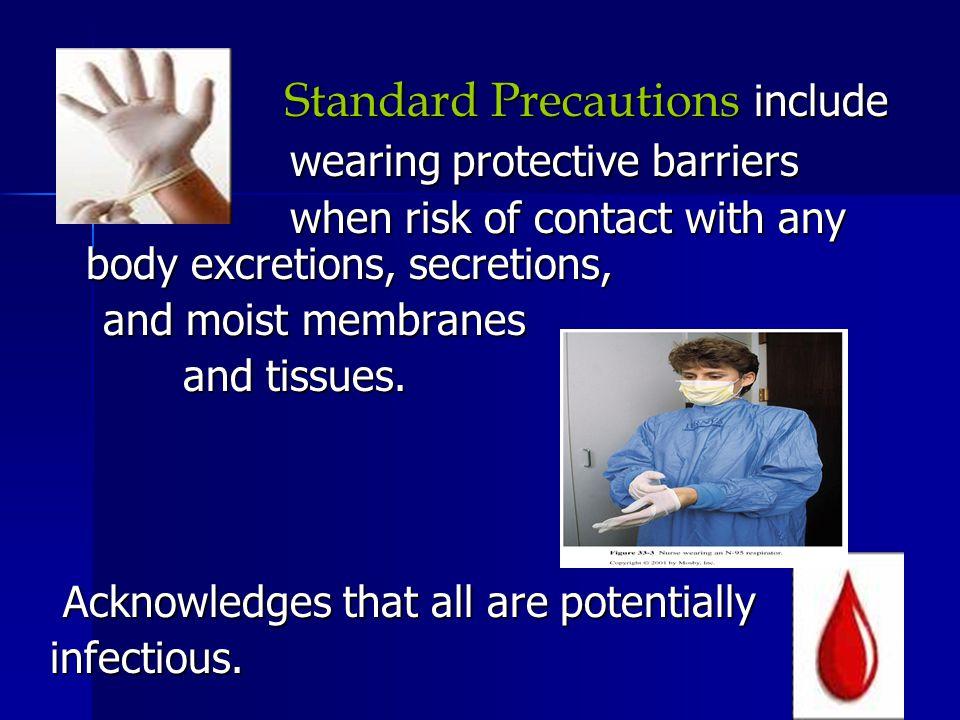 Standard Precautions include