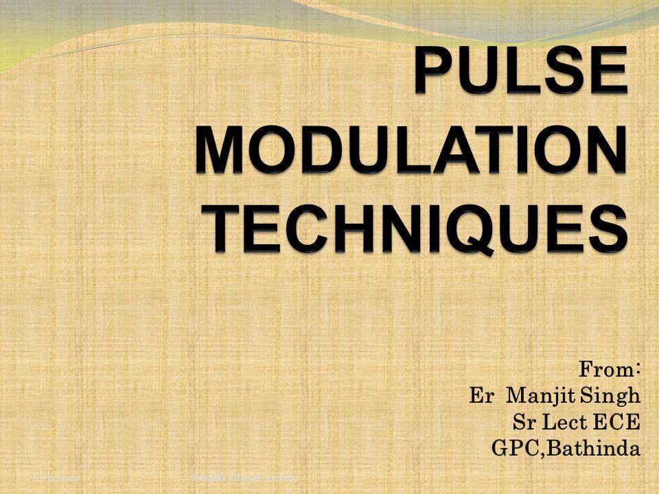 PULSE MODULATION TECHNIQUES