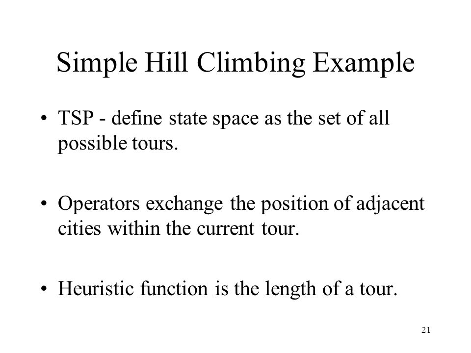 Simple Hill Climbing Example