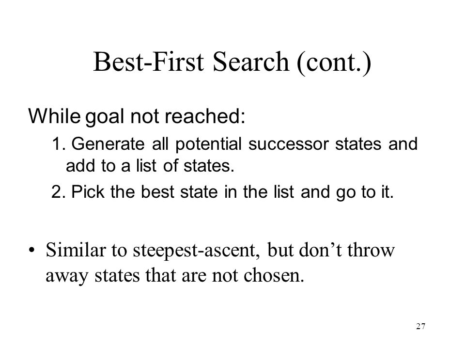 Best-First Search (cont.)