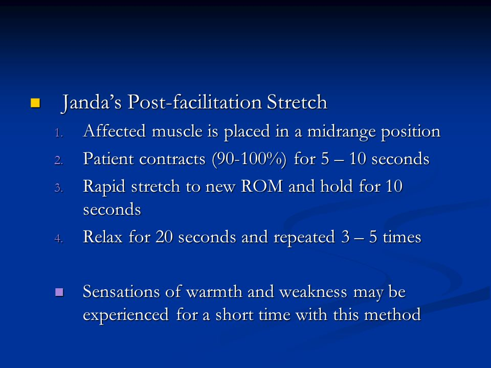 Janda's Post-facilitation Stretch