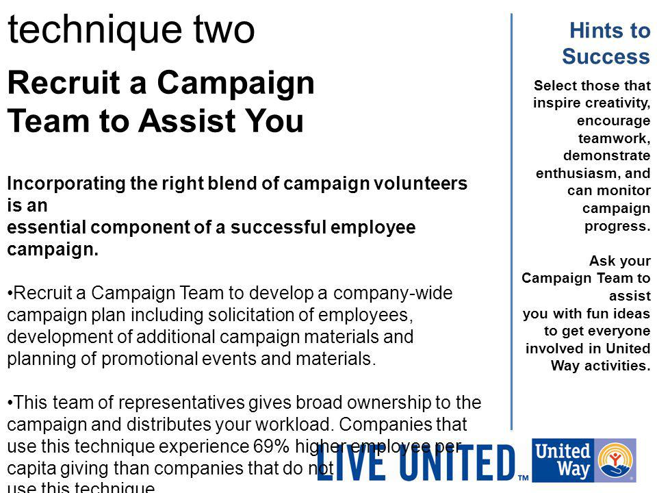 technique two Recruit a Campaign Team to Assist You Hints to Success