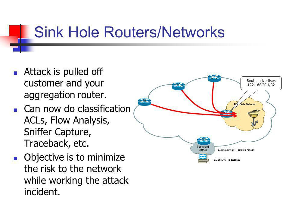 Sink Hole Routers/Networks