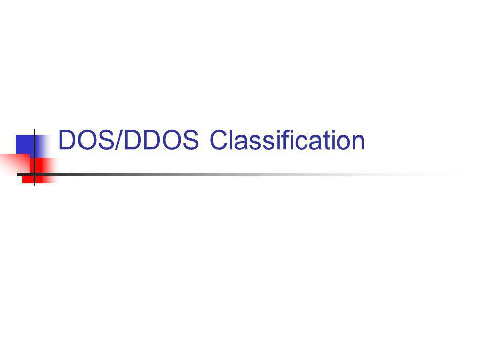 DOS/DDOS Classification