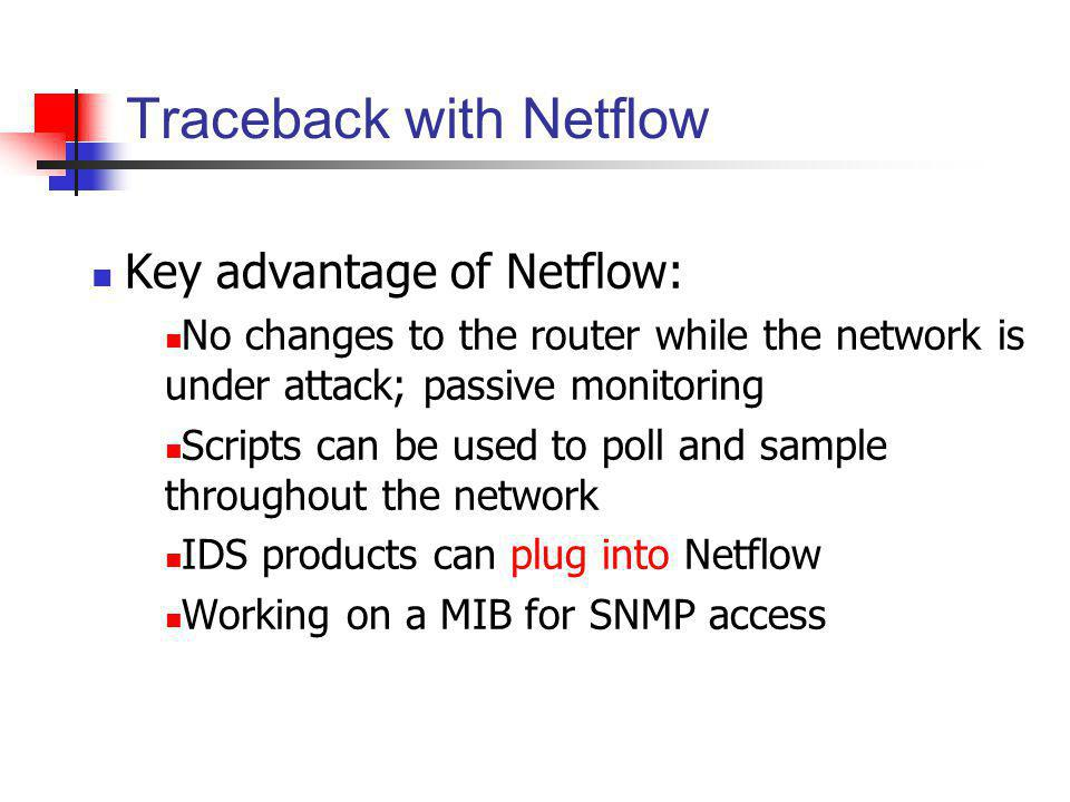 Traceback with Netflow
