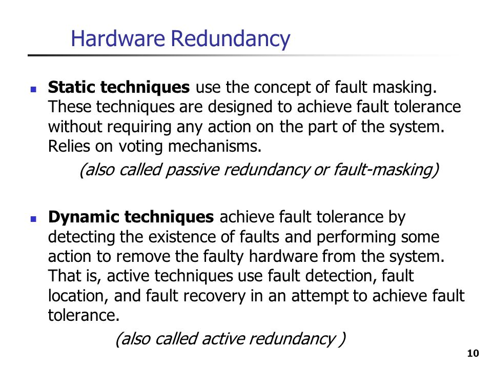Hardware Redundancy