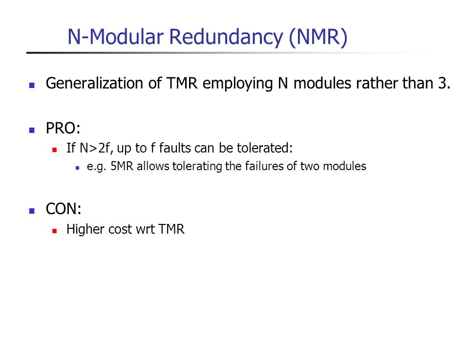 N-Modular Redundancy (NMR)