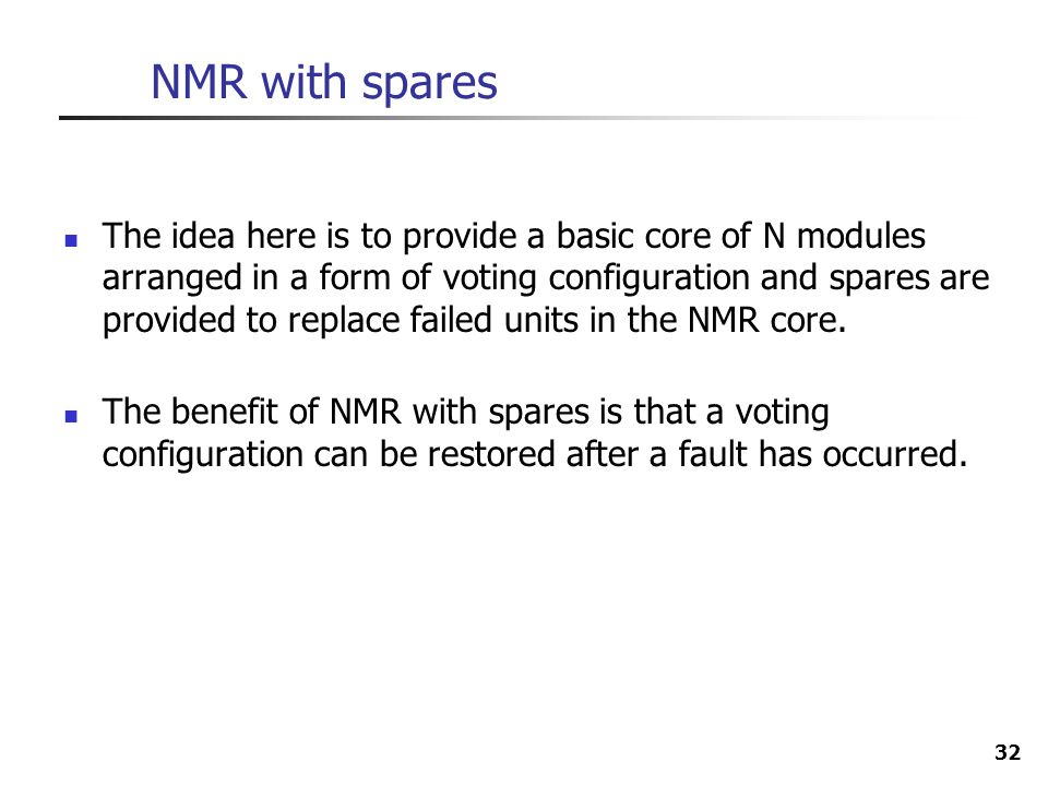 NMR with spares