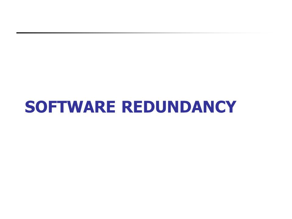 Software redundancy