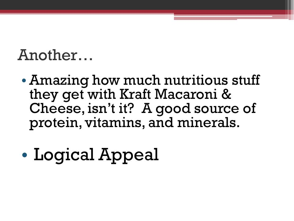 Logical Appeal Another…