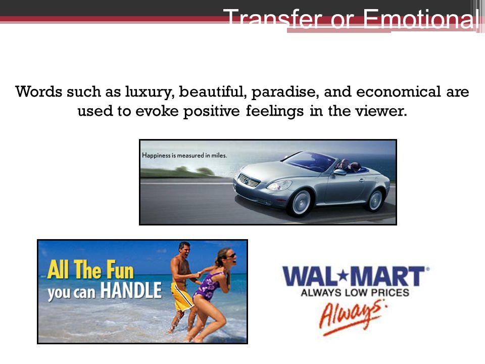 Transfer or Emotional Words
