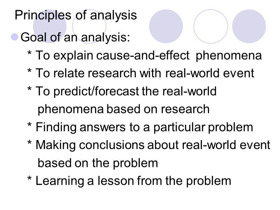 Principles of analysis